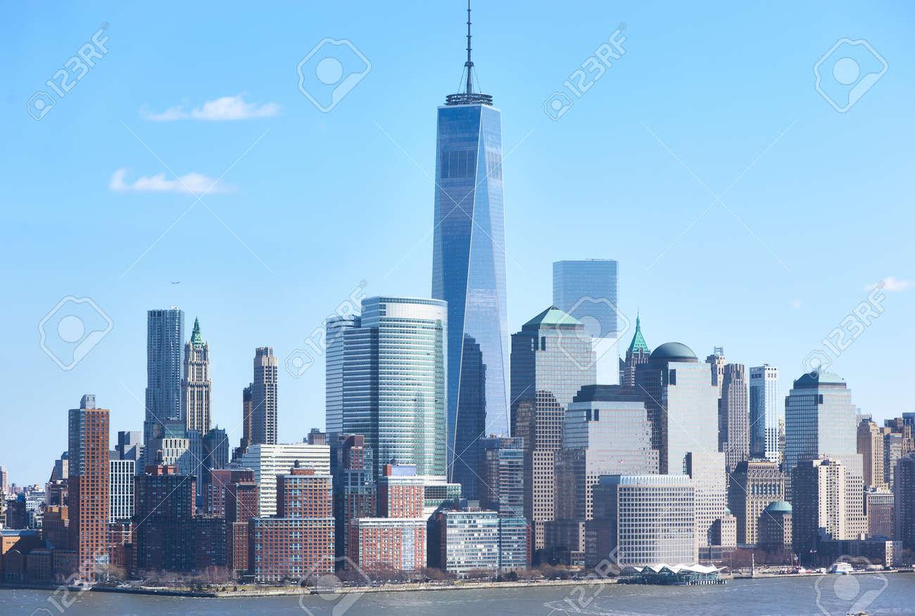 New York City Manhattan Skyline Mit One World Trade Center Tower