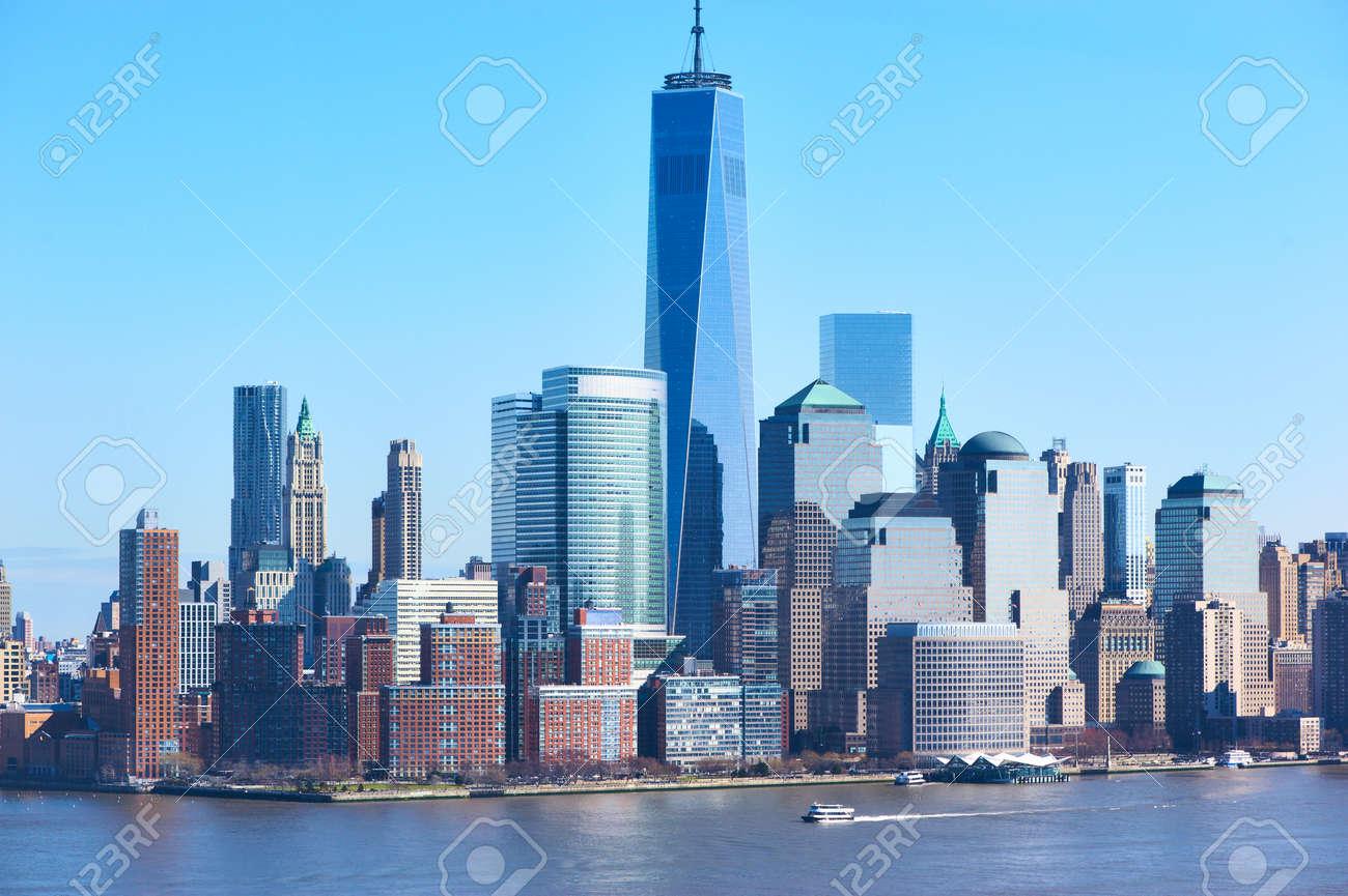 Skyline New York City Manhattans Mit Einem World Trade Center Turm  (AKA Freiheits