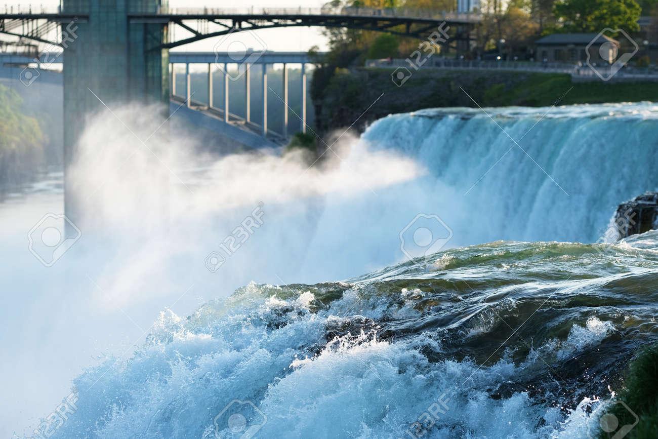 American Side Of Niagara Falls New York Usa