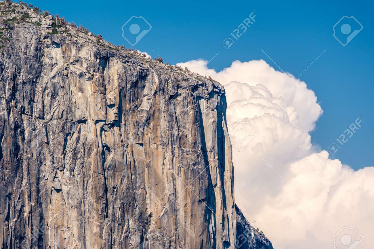 el capitan rock formation close-up in yosemite national park