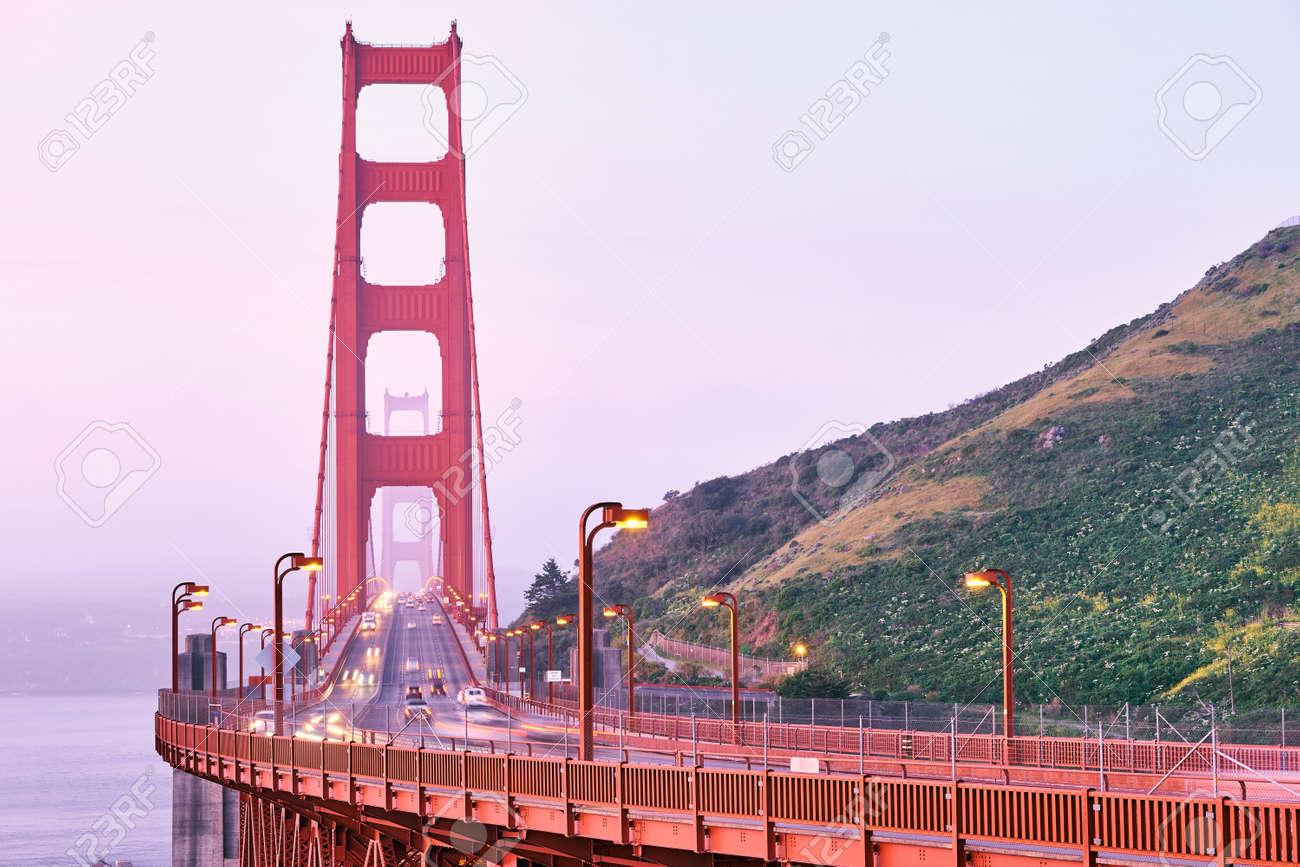 Golden Gate Bridge view at sunrise, San Francisco, California, USA - 121460479