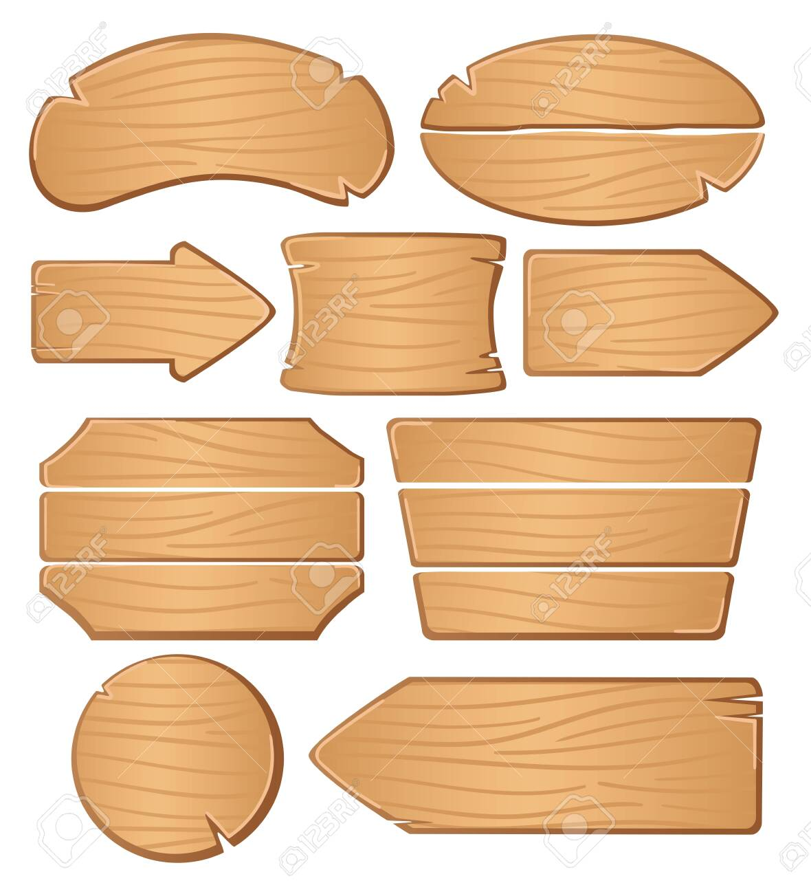 Wooden boards for banners or messages. - 136820948