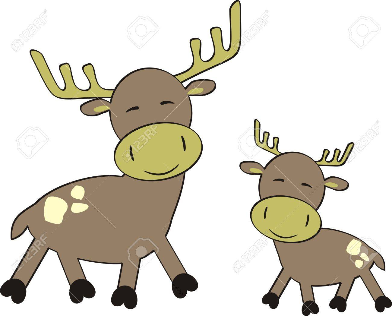cartoon reindeer in vector format Stock Vector - 5964215