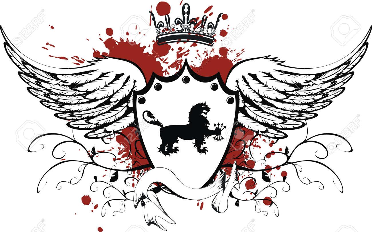 heraldic gryphon coat of arms Stock Vector - 8495409