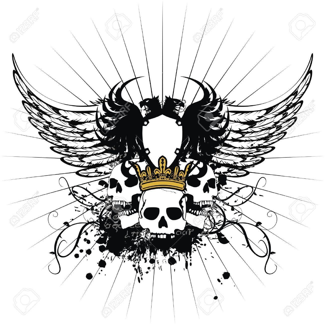 heraldic coat of arms Stock Vector - 8520239