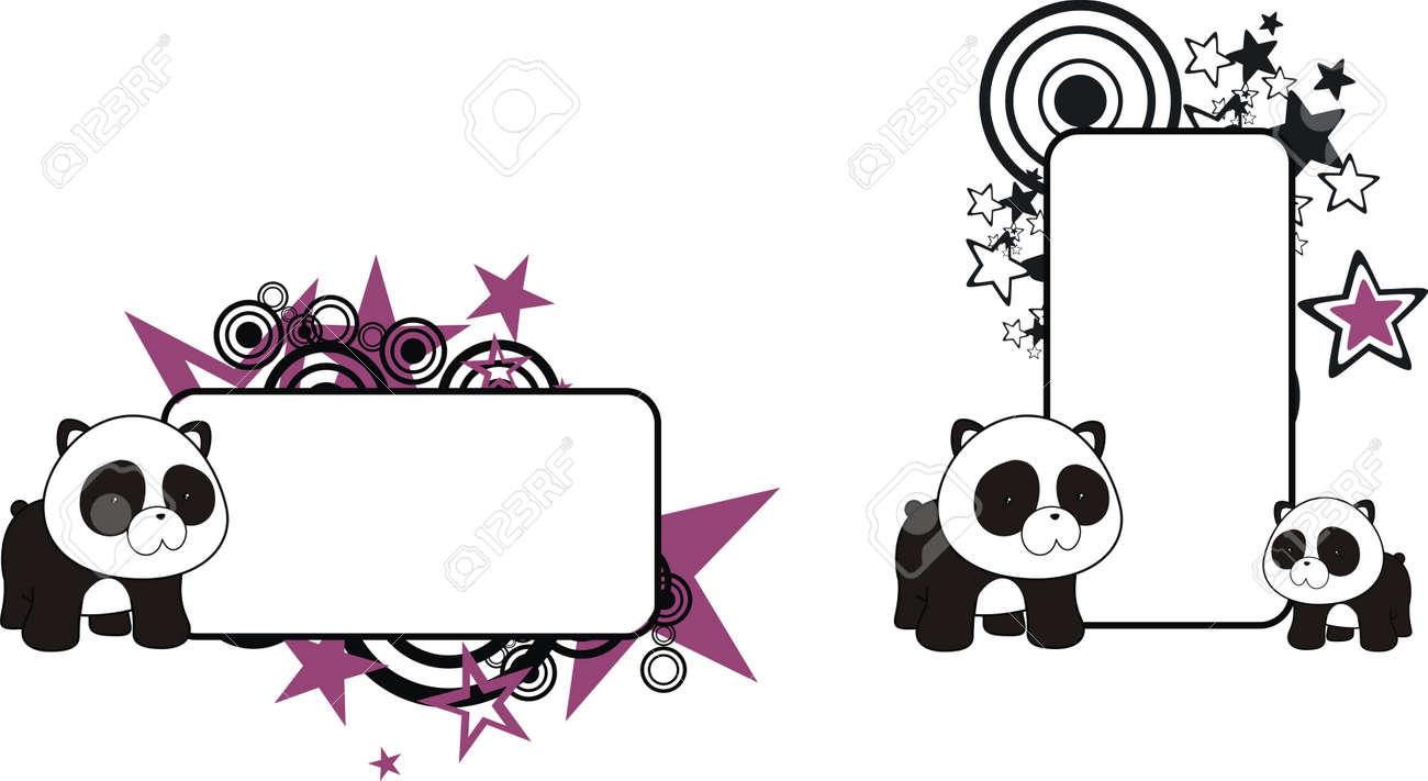panda bear cartoon copy space Stock Vector - 9046153