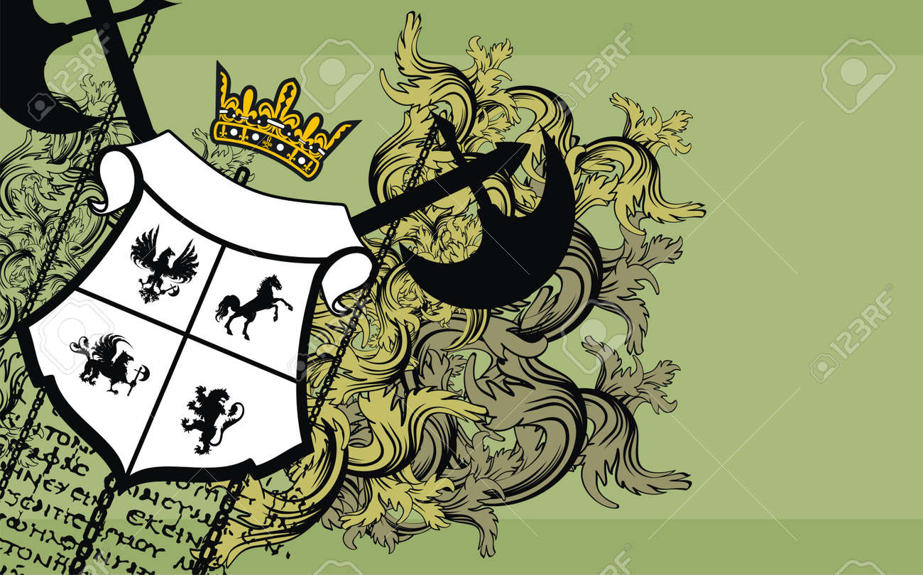 heraldic ornament  background Stock Vector - 9046223