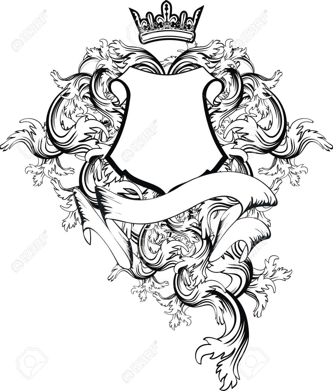 Space Coat Of Arms Vector heraldic coat of arms