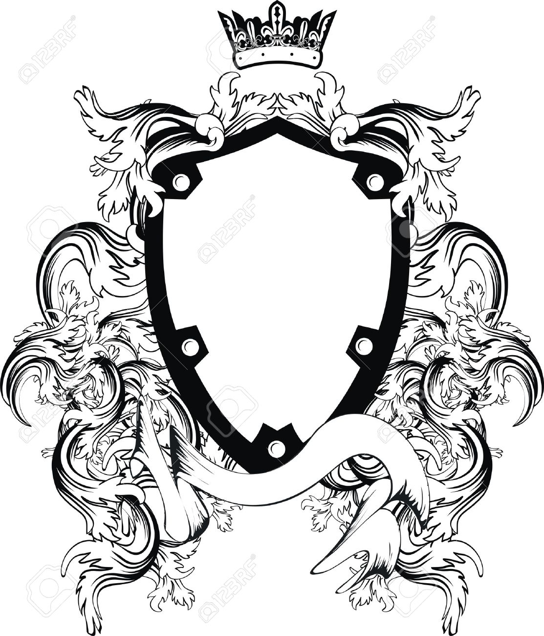 heraldic coat of arms copyspace in vector format very easy to rh 123rf com coat of arms vector pack coat of arms vector template