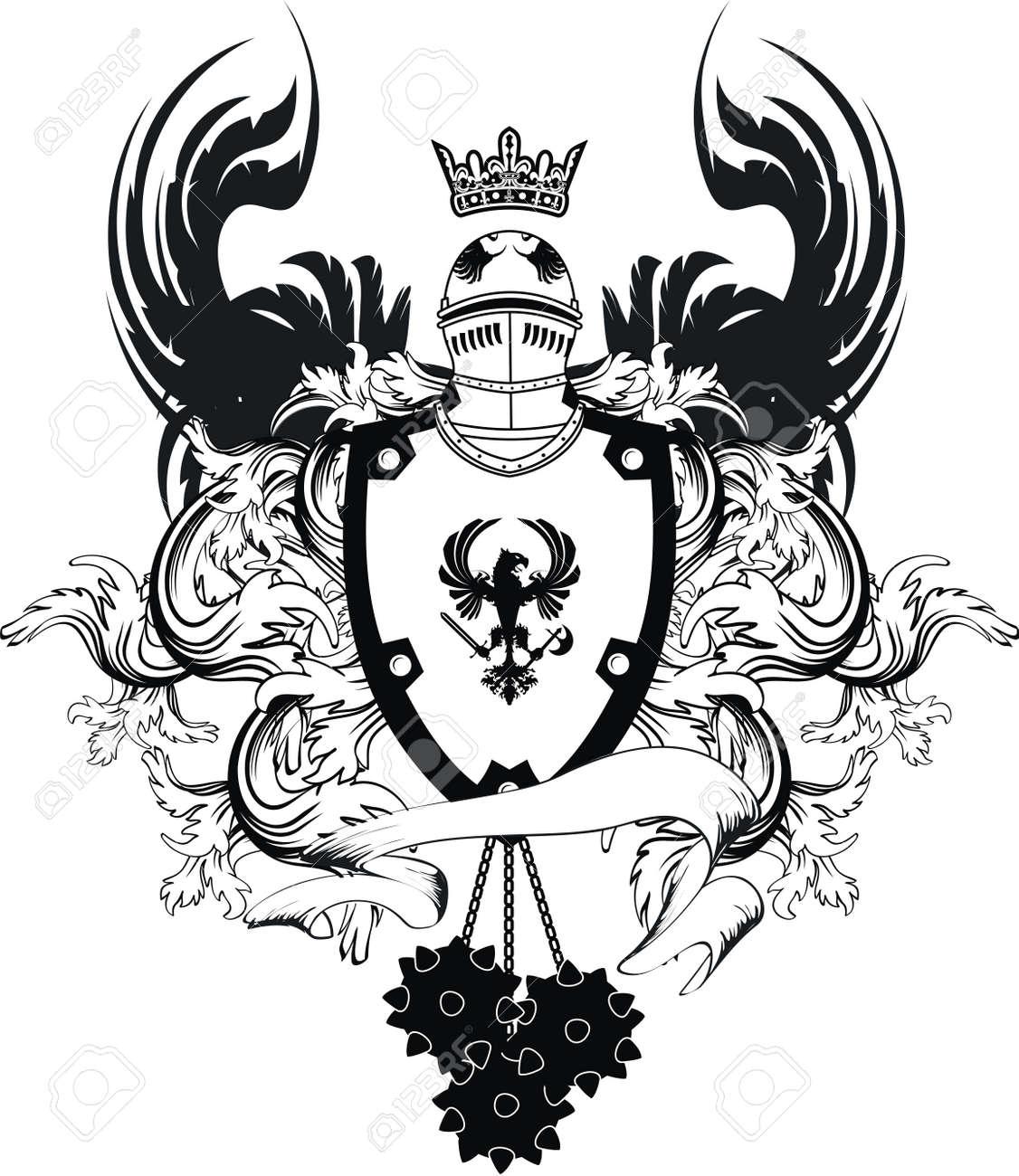 Heraldic Helmet Coat Of Arms In Vector Format Royalty Free ...