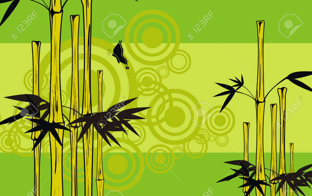 bamboo background Stock Vector - 9592406