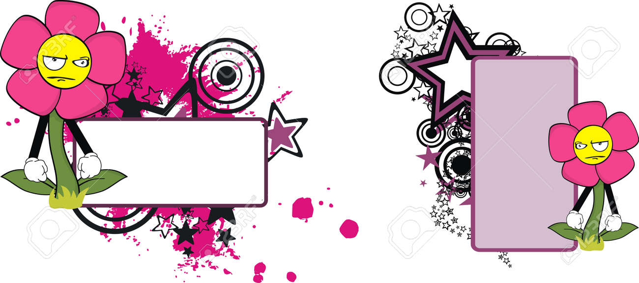 flower  cartoon copyspace in vector format Stock Vector - 9632213
