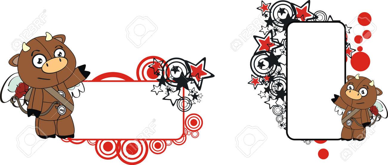 bull plush cartoon copyspace  in vector format Stock Vector - 9680323