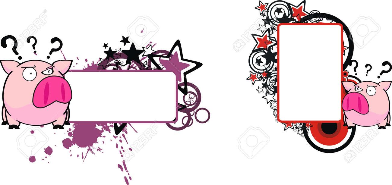 pig cartoon copyspace in vector format Stock Vector - 9883235