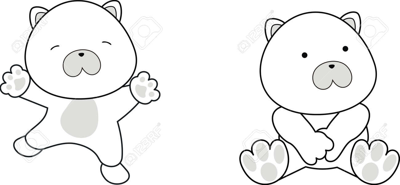 polar bear baby cartoon in vector format Stock Vector - 10214881