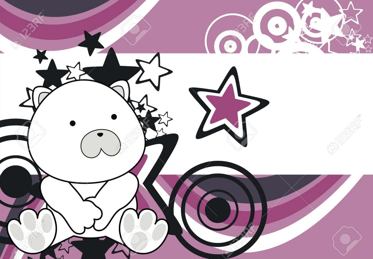 polar bear baby cartoon sit background in vector format Stock Vector - 10251643