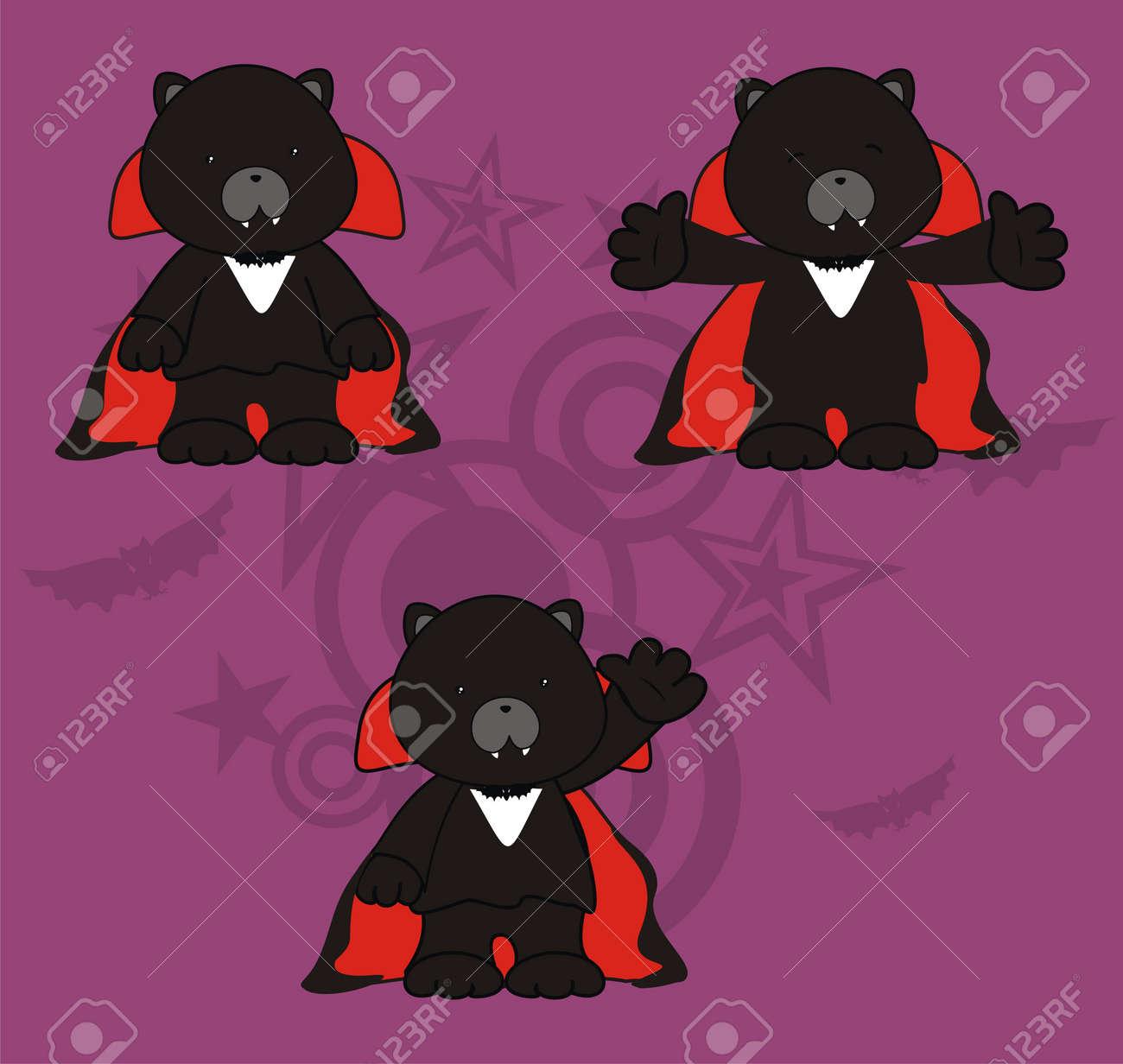 panther dracula cartoon set in vector format Stock Vector - 10485390