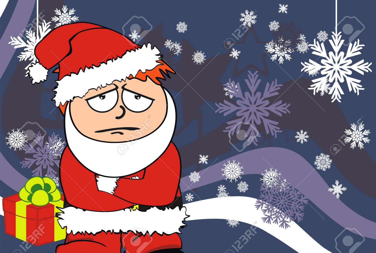 claus navidad para nios de dibujos animados de fondo foto de archivo