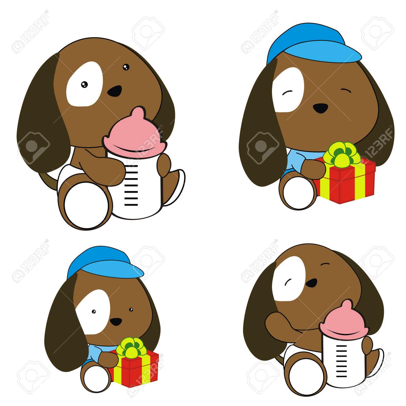 puppy baby diaper cartoon set royalty free cliparts vectors and rh 123rf com Cute Puppy Clip Art Sleeping Puppy Clip Art