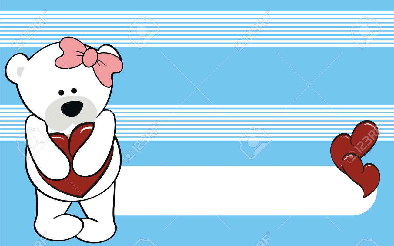 Nina De Dibujos Animados Oso Polar Wallpaper Amor En Formato