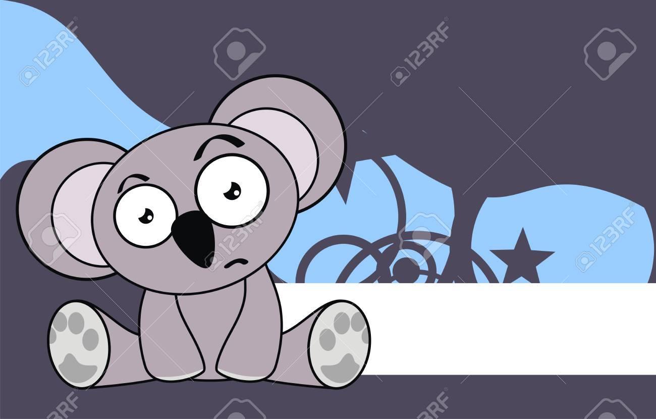 Download Wallpaper Koala Cartoon - 29311580-koala-baby-cute-sit-cartoon-background-in-vector-format  Picture_431142   .jpg
