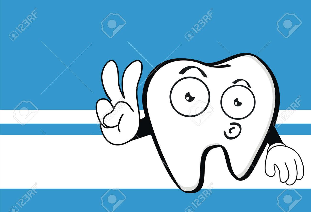 Molar Dental Cartoon Wallpaper In Vector Format Stock