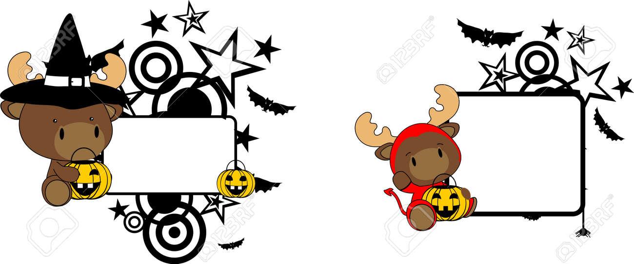 foto de archivo halloween traje del reno del beb conjunto de dibujos animados en formato vectorial