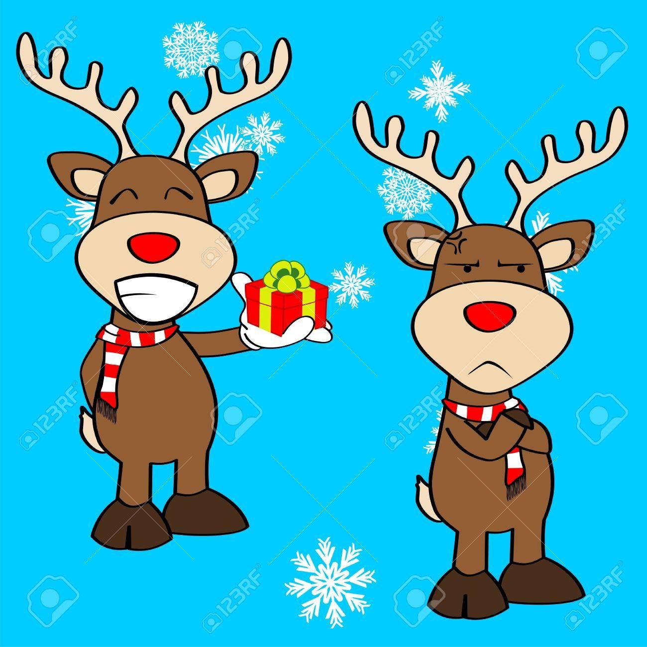 navidad expresin de dibujos animados de renos en formato vectorial muy fcil de editar foto de