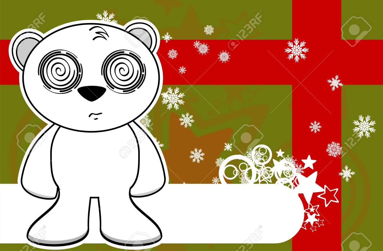 Polaire Ours En Peluche De Dessin Anime Noel Fond En Format