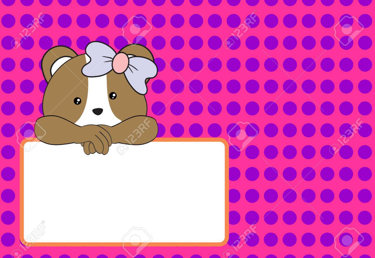 Niedliche Baby-Hamster-Mädchen Hintergrund Im Vektor-Format Sehr ...