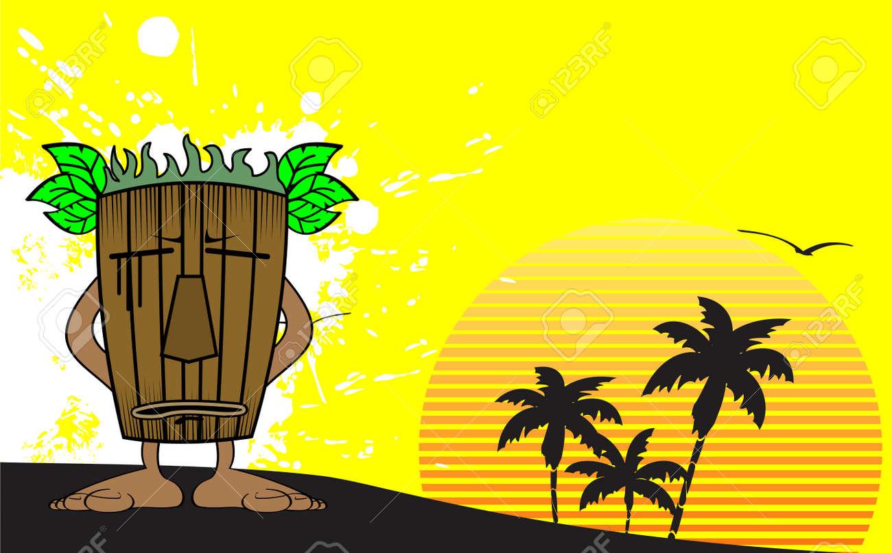 Tiki Hawaiano Elegant Elementos De Diseo Fiesta Luau Hawaiano  # Muebles Hawaianos
