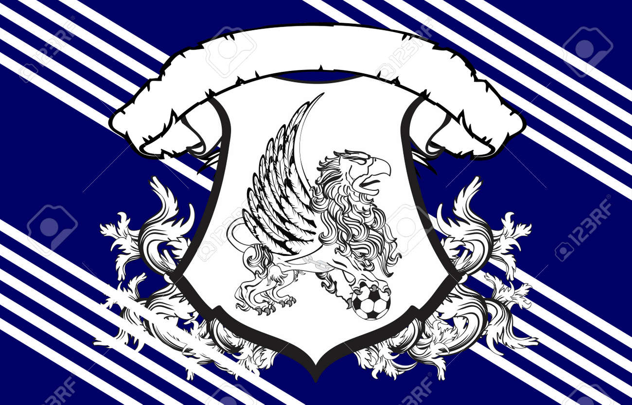 Gryphon Soccer Crest Background In Vector Format Very Easy To Edit Stock  Vector   53654774