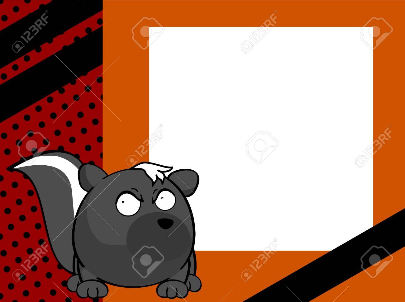 Süße Cartoon Stinktier Ball Rahmen Hintergrund Im Vektor-Format ...