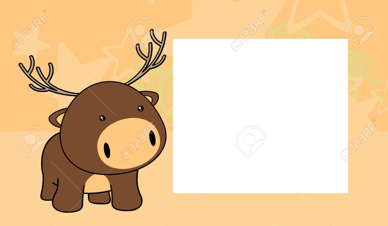 Sweet Baby Deer Cartoon Background In Vector Format Frame Royalty ...