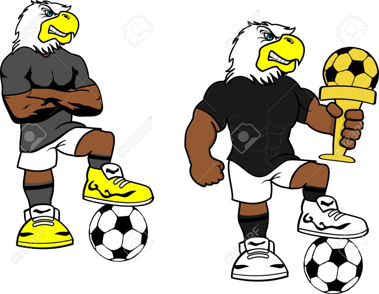 Dibujos animados de fútbol fútbol águila en formato vectorial muy fácil de  editar Foto de archivo d3c19f9e207a5