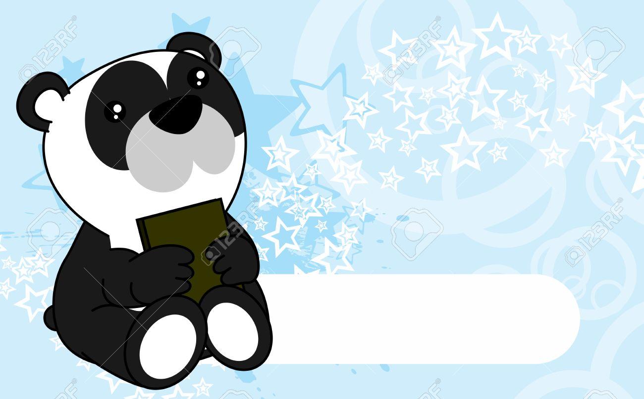 Cute little baby panda bear cartoon background in vector format cute little baby panda bear cartoon background in vector format very easy to edit stock vector voltagebd Images