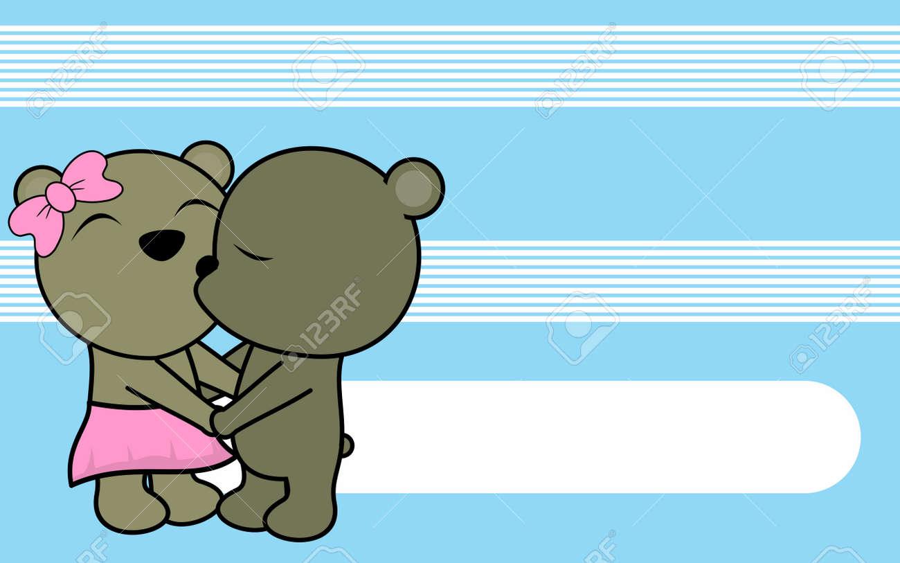Mignon Amour Bebe Garcon Et Fille Nounours Fond De Dessin Anime En Format Vectoriel Tres Facile A Modifier Clip Art Libres De Droits Vecteurs Et Illustration Image 83225987