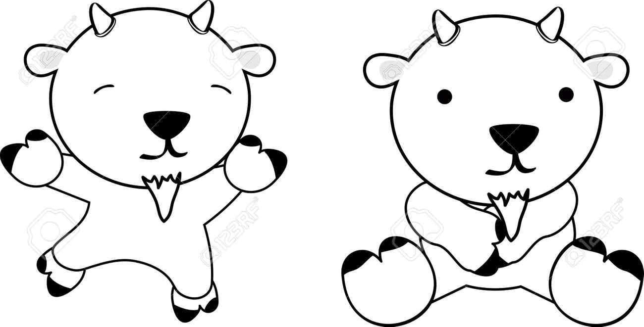 Dessin Anime Chevre Bebe Doux En Format Vectoriel Tres Facile A