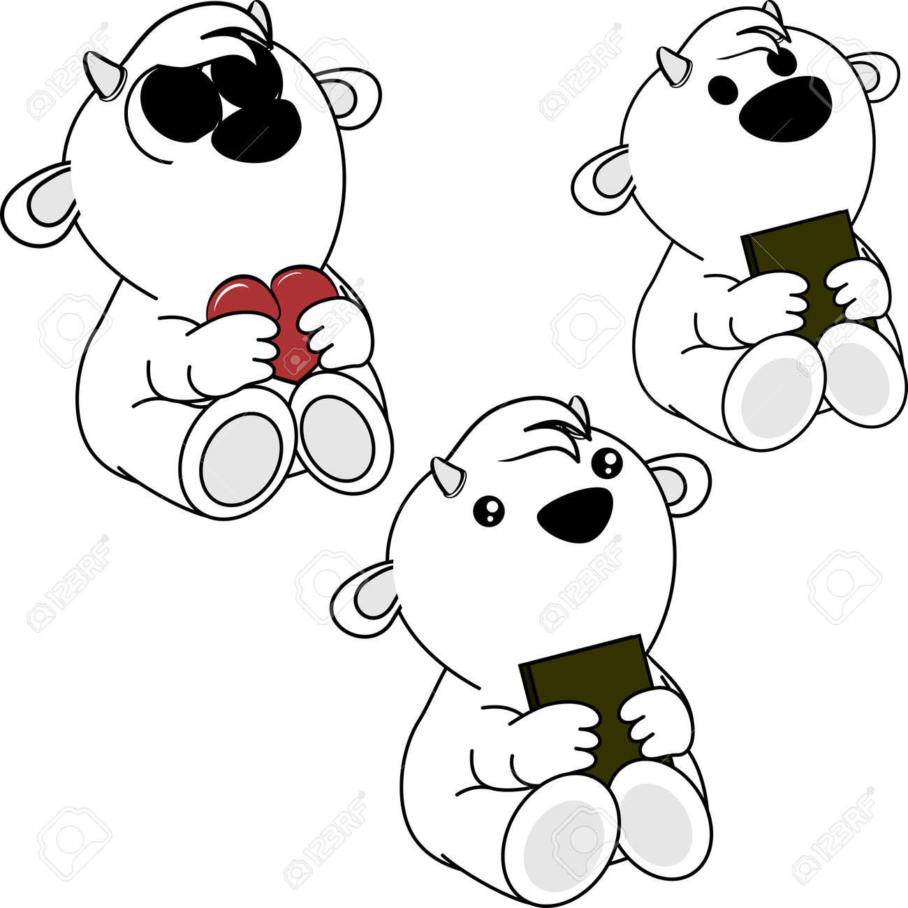Little Cute Baby Goat Cartoon Set In Vector Format Very Easy