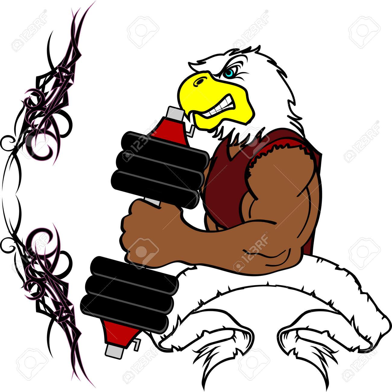 Gimnasio De Entrenamiento De Pesas De Dibujos Animados águila ...