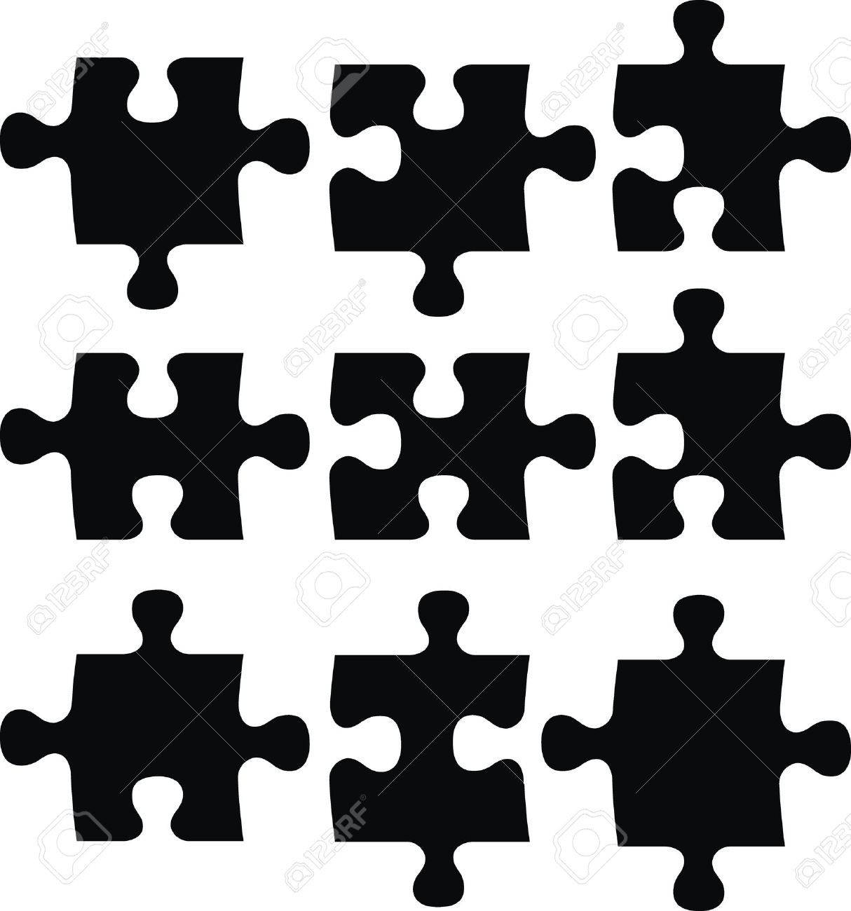 puzzle pieces vector file very easy to edit individual objects rh 123rf com vector puzzle pieces free download vector puzzle piece generator