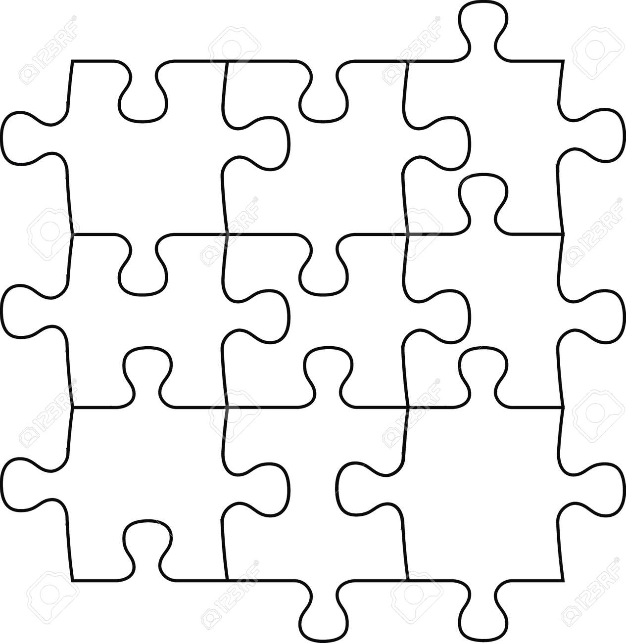 puzzle pieces vector file very easy to edit individual objects rh 123rf com vector puzzle pieces illustrator free vector puzzle piece template