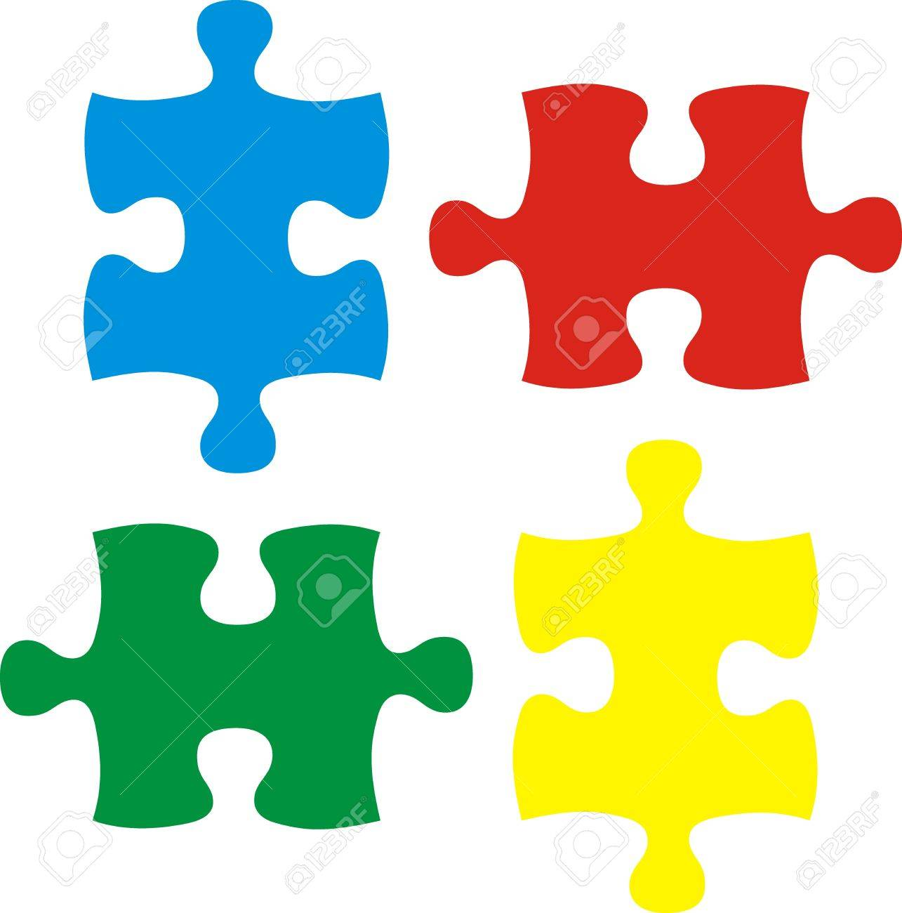 Puzzle Pieces, Vector File Very Easy To Edit, Individual Objects ...