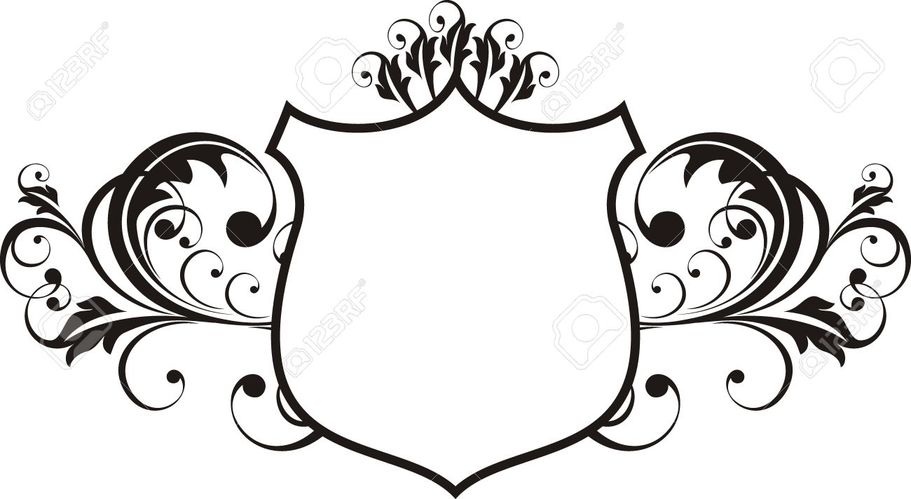 vector ornamental shield frame very easy to edit royalty free rh 123rf com free vector ornaments frames free vector ornaments frames