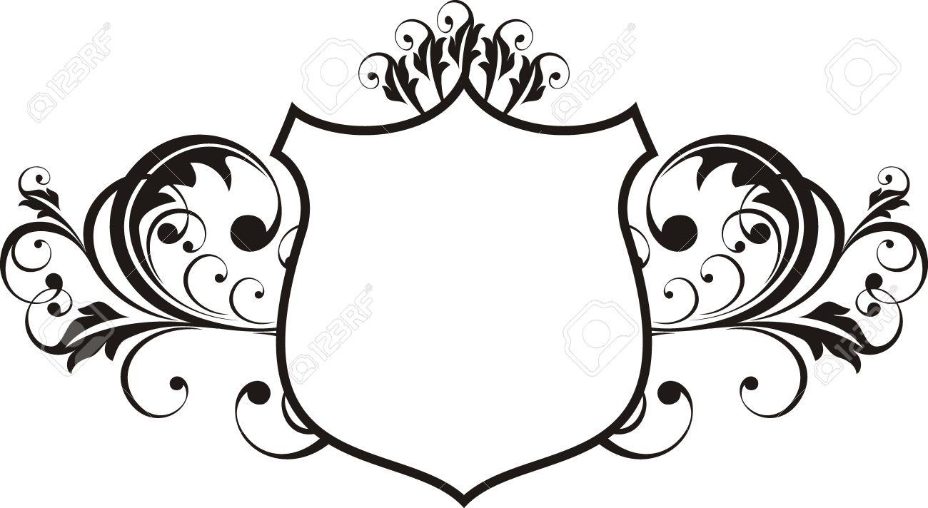 Vectores Ornamentales Escudo Marco Muy Fácil De Editar Ilustraciones ...