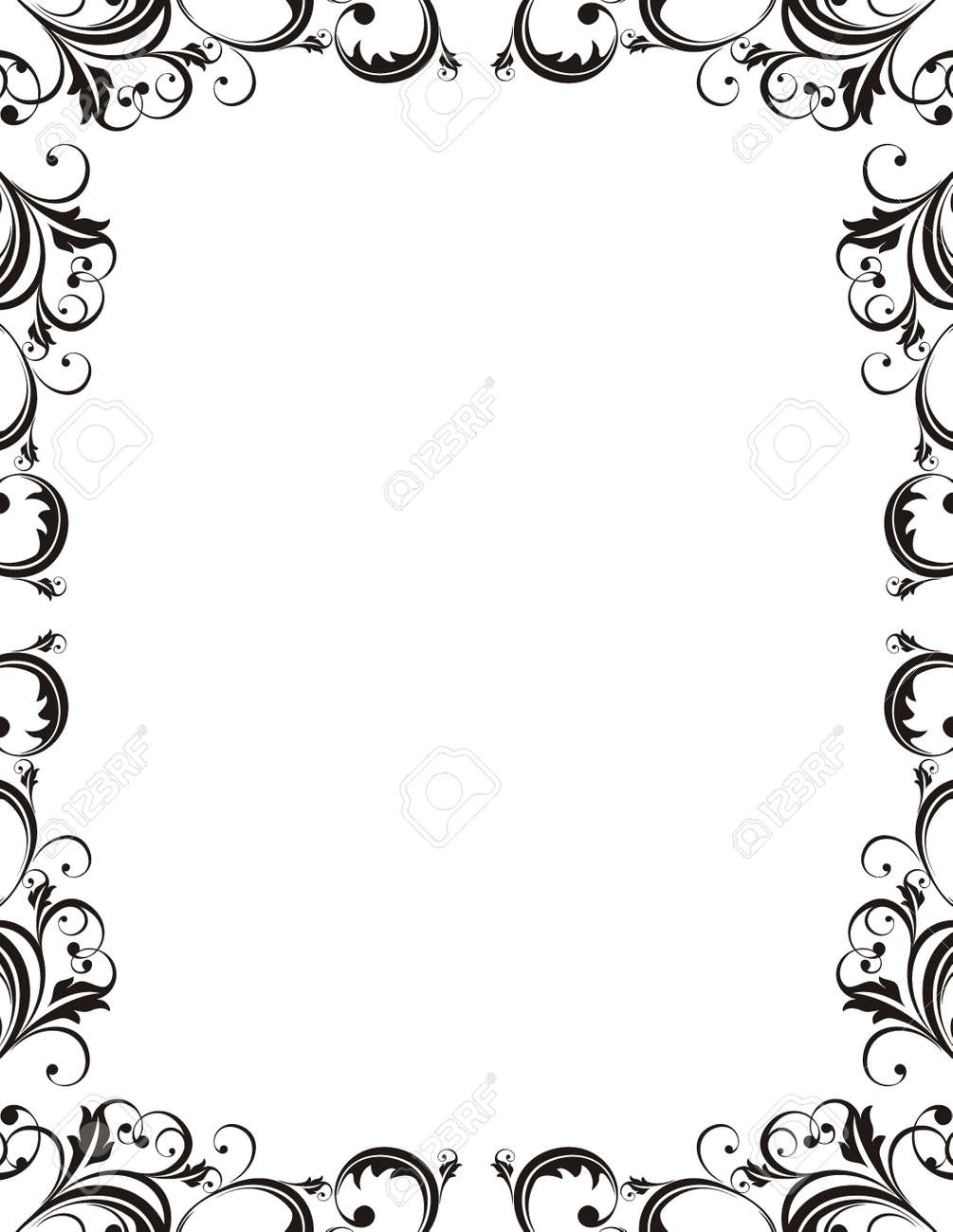 Vector Ornamental Frame Very Easy To Edit Royalty Free Cliparts ...