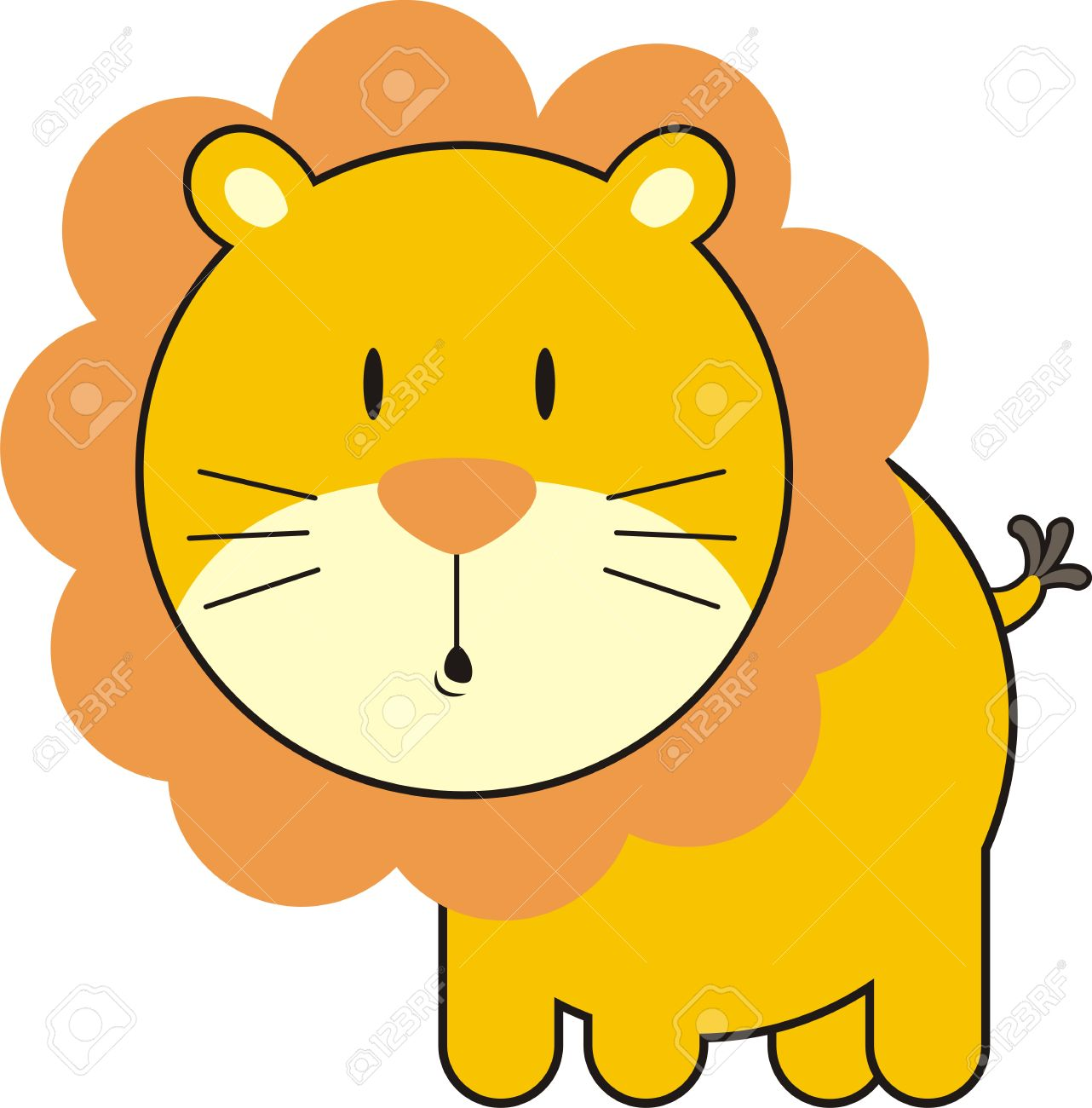 baby lion, individual objects very easy to edit Stock Vector - 4624782