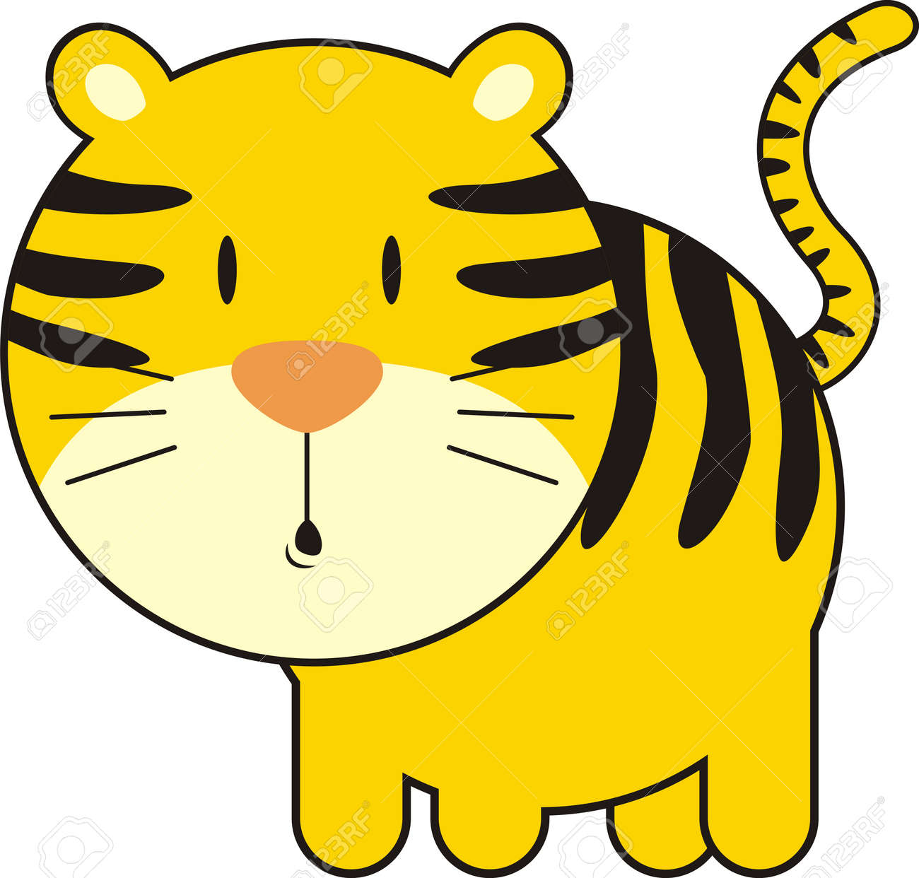 isolated baby tiger, individual objects very easy to edit Stock Vector - 4624764