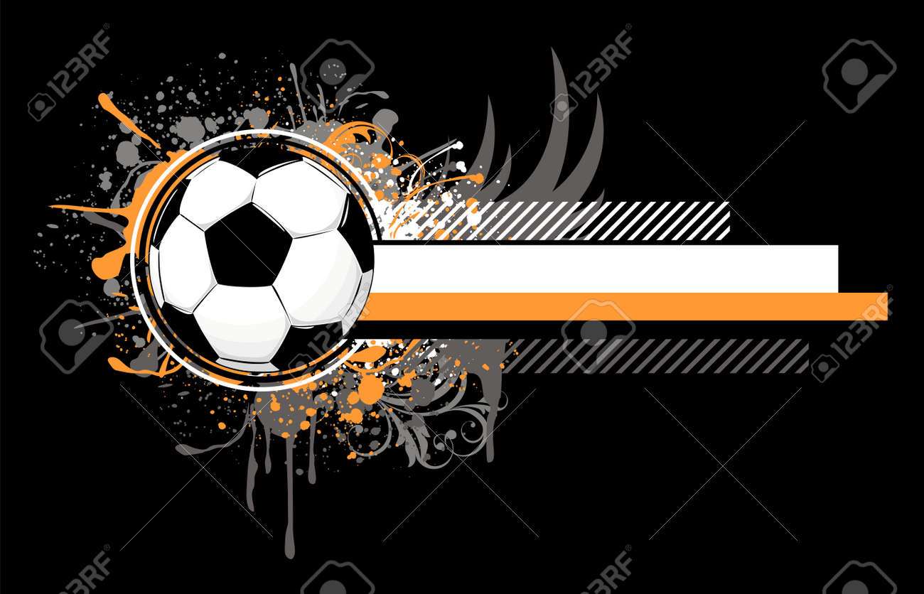 soccer related composition, vector format very easy to edit, individual objects Stock Vector - 5194468