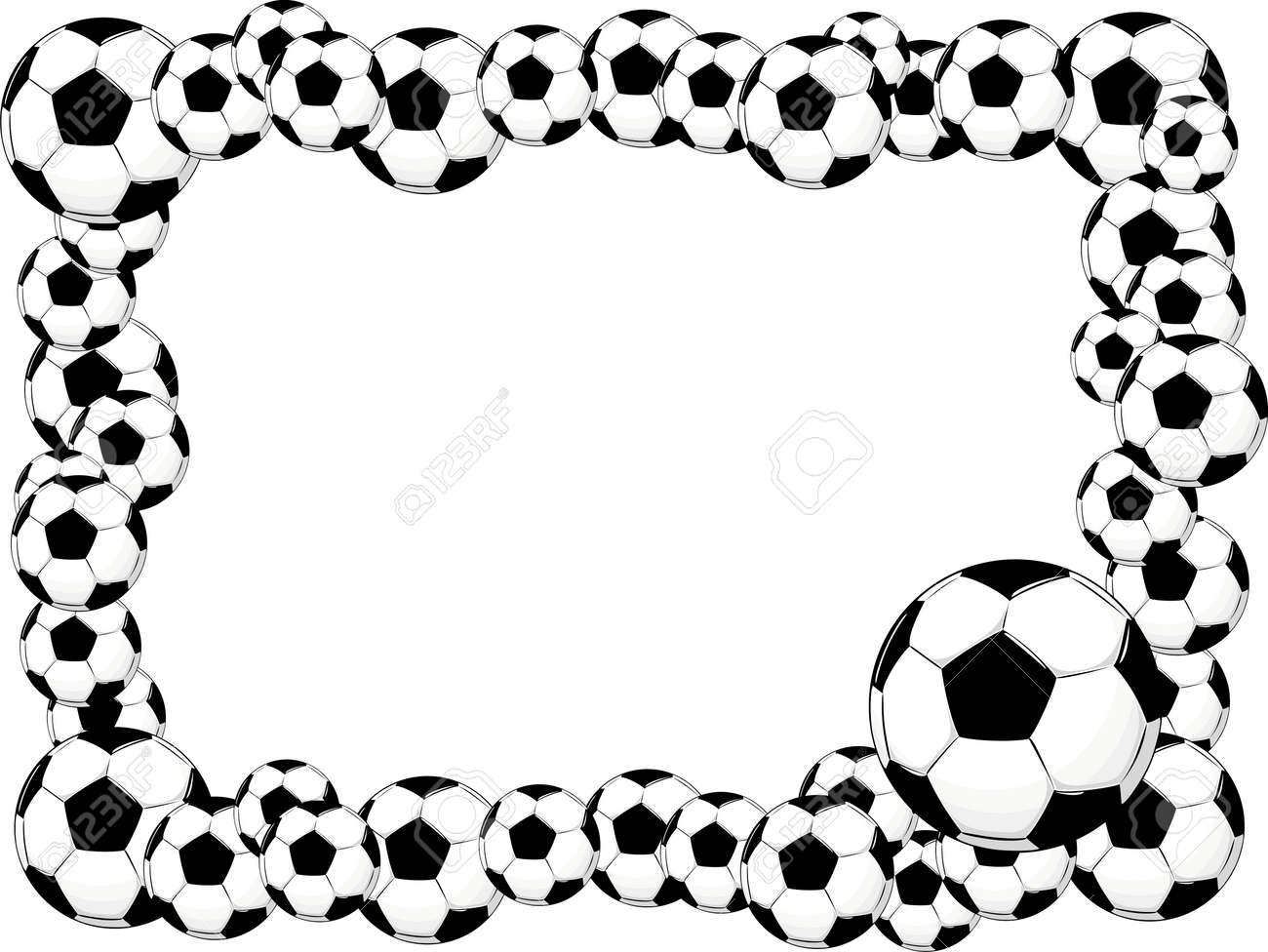 Soccer Balls Frame Royalty Free Cliparts, Vectors, And Stock ...